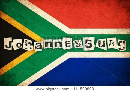South Africa Grunge Flag Illustration Of Country With Text