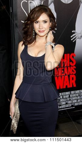 Ashley Jones at the Los Angeles premiere of 'This Means War' held at the Grauman's Chinese Theatre in Hollywood on February 8, 2012.