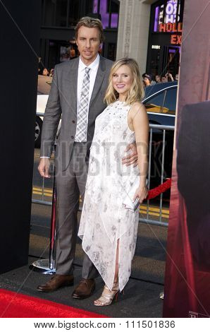 Dax Shepard and Kristen Bell at the Los Angeles premiere of
