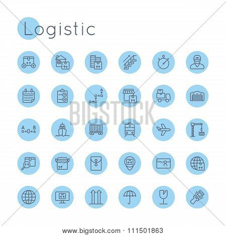 Vector Round Logistic Icons