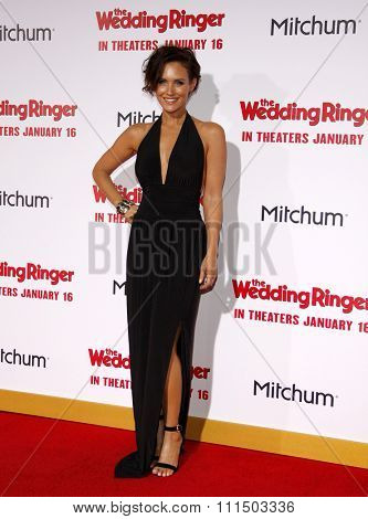 Nicky Whelan at the Los Angeles premiere of 'The Wedding Ringer' held at the TCL Chinese Theater in Hollywood on January 6, 2015.