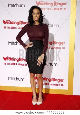 Draya Michele at the Los Angeles premiere of 'The Wedding Ringer' held at the TCL Chinese Theater in Hollywood on January 6, 2015.