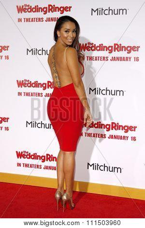 Gloria Govan at the Los Angeles premiere of 'The Wedding Ringer' held at the TCL Chinese Theater in Hollywood on January 6, 2015.