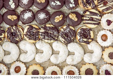 Plate With Delicate Christmas Cookies