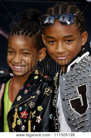 Willow Smith and Jaden Smith at the Los Angeles premiere of 'The Twilight Saga: Eclipse' held at the Nokia Theatre L.A. Live in Los Angeles on June 24, 2010.