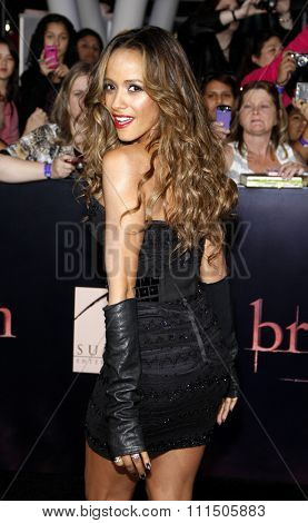 Dania Ramirez at the Los Angeles premiere of 'The Twilight Saga: Breaking Dawn Part 1' held at the Nokia Theatre L.A. Live in Los Angeles on November 14, 2011.