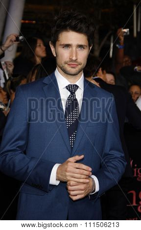 Matt Dallas at the Los Angeles premiere of 'The Twilight Saga: Breaking Dawn Part 1' held at the Nokia Theatre L.A. Live in Los Angeles on November 14, 2011.