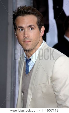 Ryan Reynolds at the Los Angeles premiere of 'The Proposal' held at the El Capitan Theatre in Hollywood on June 1, 2009.