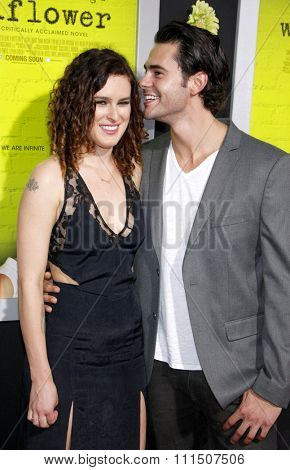 Jayson Blair and Rumer Willis at the Los Angeles premiere of 'The Perks Of Being A Wallflower' held at the ArcLight Cinemas in Hollywood on September 10, 2012.