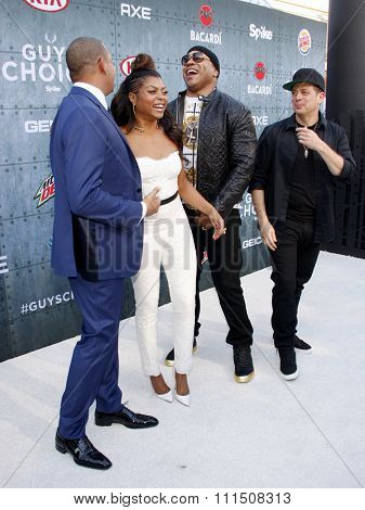 Taraji P. Henson, Z-trip, Terrence Howard and LL Cool J at the 2015 Spike TV's Guys Choice Awards held at the Sony Pictures Studios in Culver City, USA on June 6, 2015.