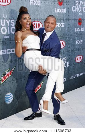 Terrence Howard and Taraji P. Henson at the 2015 Spike TV's Guys Choice Awards held at the Sony Pictures Studios in Culver City, USA on June 6, 2015.