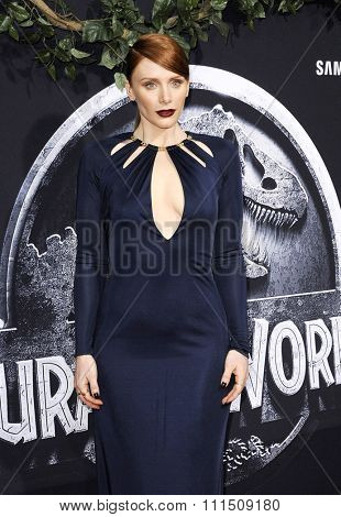 Bryce Dallas Howard at the World premiere of 'Jurassic World' held at the Dolby Theatre in Hollywood on June 9, 2015.