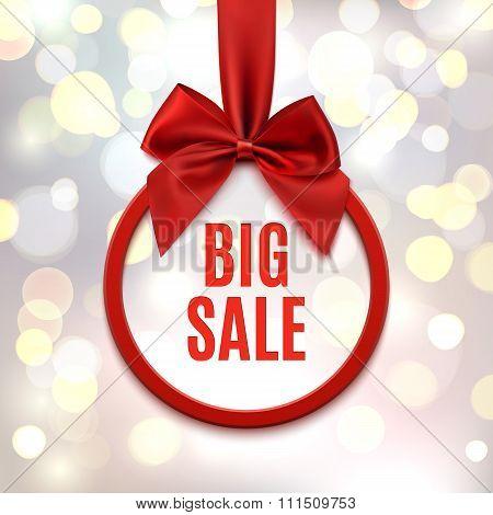 Big sale, round banner.