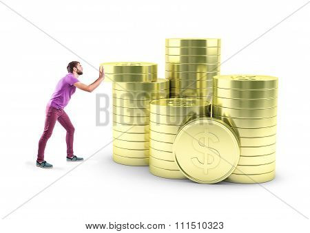 Boy With Coins