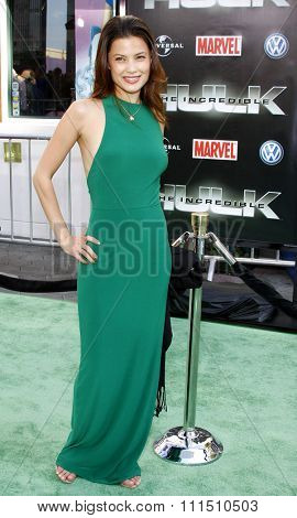 Natassia Malthe at the Los Angeles premiere of 'The Incredible Hulk' held at the Universal Studios Hollywood in Universal City on April 8, 2008.