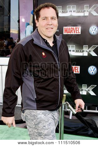 Jon Favreau at the Los Angeles premiere of 'The Incredible Hulk' held at the Universal Studios Hollywood in Universal City on April 8, 2008.