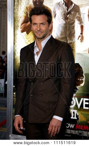 Bradley Cooper at the Los Angeles premiere of 'The Hangover Part II' held at the Grauman's Chinese Theatre in Hollywood on May 19, 2011.