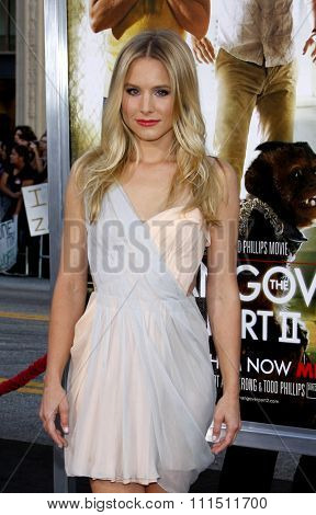 Kristen Bell at the Los Angeles premiere of 'The Hangover Part II' held at the Grauman's Chinese Theatre in Hollywood on May 19, 2011.