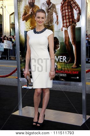 Yvonne Strahovski at the Los Angeles premiere of 'The Hangover Part II' held at the Grauman's Chinese Theatre in Hollywood on May 19, 2011.