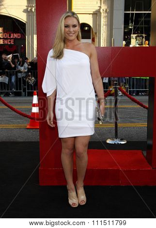 Lindsey Vonn at the Los Angeles premiere of 'The Hangover Part II' held at the Grauman's Chinese Theatre in Hollywood on May 19, 2011.