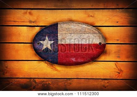 A Wooden Texas Flag.