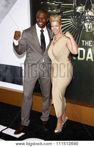 Terry Crews and Rebecca King-Crews at the Los Angeles premiere of 'The Expendables 2' held at the Grauman's Chinese Theatre in Hollywood on August 15, 2012.