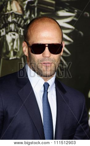 Jason Statham at the Los Angeles premiere of 'The Expendables 2' held at the Grauman's Chinese Theatre in Hollywood on August 15, 2012.