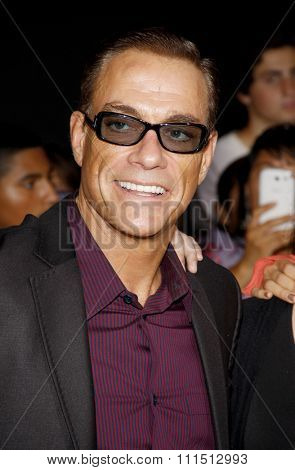 Jean-Claude Van Damme at the Los Angeles premiere of 'The Expendables 2' held at the Grauman's Chinese Theatre in Hollywood on August 15, 2012.
