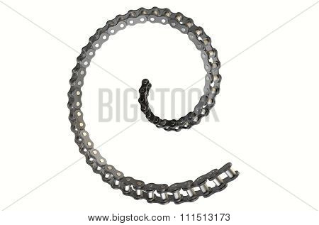 Bicycle Chain Spiral
