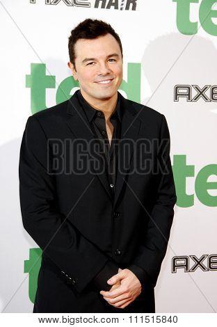 Seth MacFarlane at the Los Angeles premiere of 'Ted