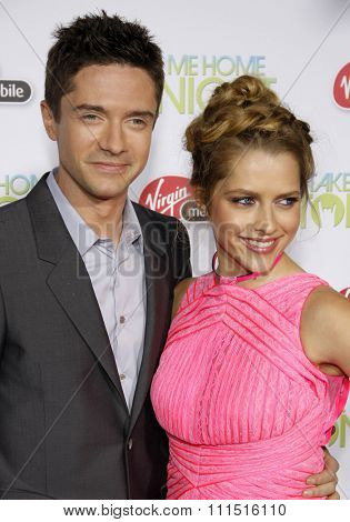Topher Grace and Teresa Palmer at the Los Angeles premiere of 'Take Me Home Tonight' held at the Regal LA Live Stadium 14 in Los Angeles on March 2, 2011.