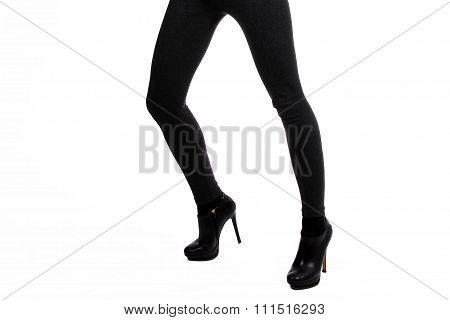 Long legs in tight pants