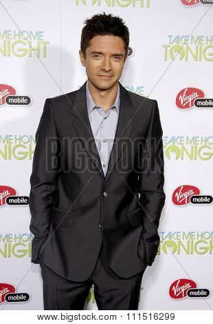 Topher Grace at the Los Angeles premiere of 'Take Me Home Tonight' held at the Regal LA Live Stadium 14 in Los Angeles on March 2, 2011.