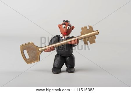 Plasticine Man With Key