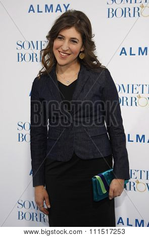 Mayim Bialik at the Los Angeles premiere of 'Something Borrowed' held at the Grauman's Chinese Theater in Hollywood on May 3, 2011.