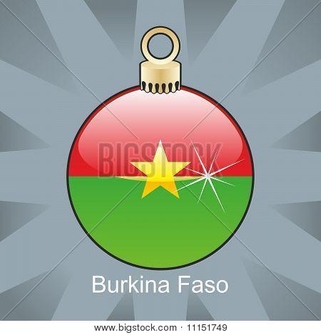 african flag in christmas bulb shape