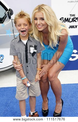 Sean Federline and Britney Spears at the Los Angeles premiere of