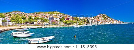 Colorful City Of Sibenik Panoramic View