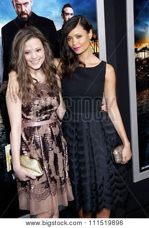 Thandie Newton and Sarah Jeffrey at the Los Angeles premiere of