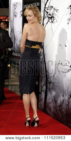 Amber Valletta attends the Los Angeles Premiere of