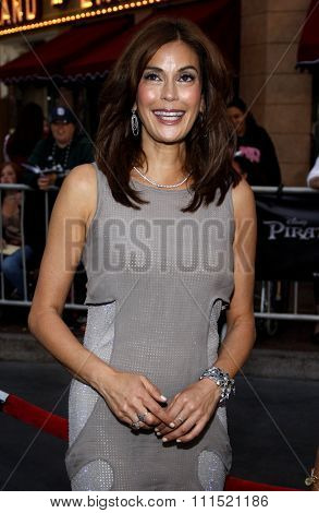 Teri Hatcher at the Los Angeles premiere of 'Pirates Of The Caribbean: On Stranger Tides' held at the Disneyland in Anaheim on May 7, 2011.