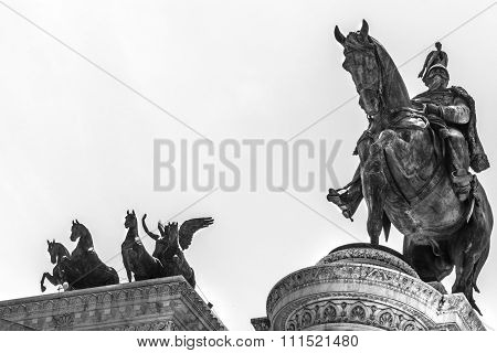 Equestrian Statue Of Victor Emmanuel