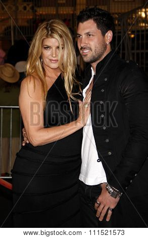 Kirstie Alley and Maksim Chmerkovskiy at the Los Angeles premiere of 'Pirates Of The Caribbean: On Stranger Tides' held at the Disneyland in Anaheim on May 7, 2011.