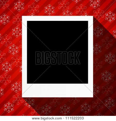 Winter Holidays Card With Blank Photo Frame