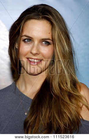 Alicia Silverstone at the Los Angeles premiere of 'Pineapple Express' held at the Mann Village Theater in Los Angeles on July 31, 2008.