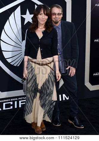 Katey Sagal and Kurt Sutter at the Los Angeles premiere of 'Pacific Rim' held at the Dolby Theatre in Hollywood on July 9, 2013 in Los Angeles, California.