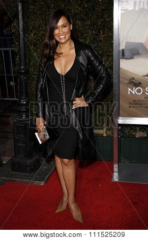 Tia Carrere at the Los Angeles premiere of 'No Strings Attached' held at the Regency Village Theater on January 11, 2011.
