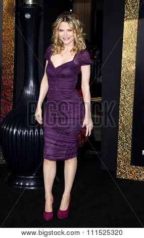 Michelle Pfeiffer at the Los Angeles premiere of 'New Year's Eve' held at the Grauman's Chinese Theatre in Hollywood on December 5, 2011.