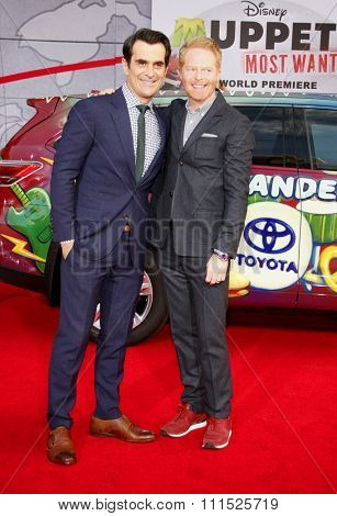 Ty Burrell and Jesse Tyler Ferguson at the Los Angeles premiere of