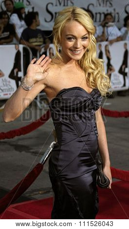 Lindsay Lohan attends the Los Angeles Premiere of